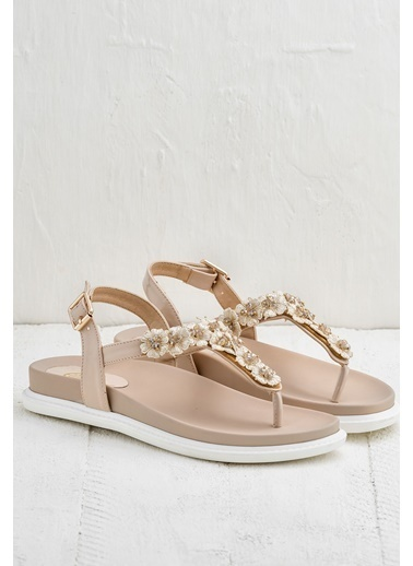Elle Parmak Arası Sandalet Pudra